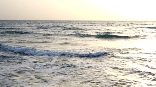 Waves roll across sea after storm video