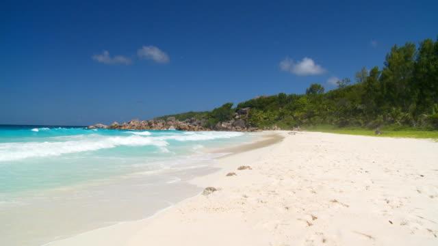 waves touching sandy beach video