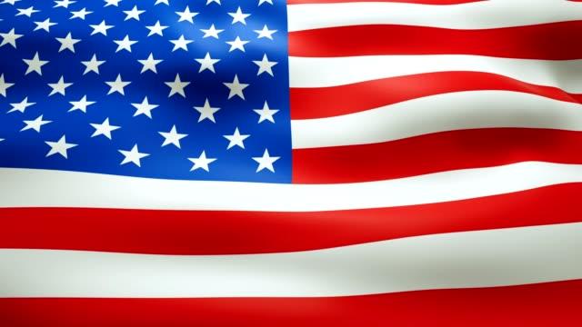 waving amerikanische flagge - schleife - ewigkeit stock-videos und b-roll-filmmaterial