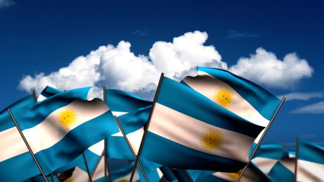 di bandiere argentina - bandiera dell'argentina video stock e b–roll