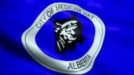 istock Waving Canada City Flag of Medicine Hat Seamless Looping 1185273265