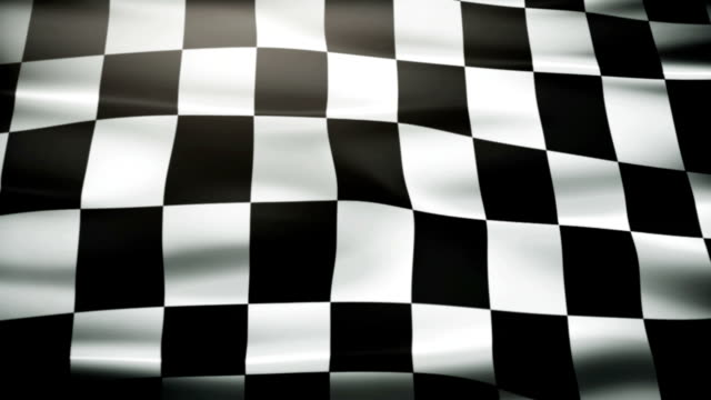 Waving Checkered flag. video