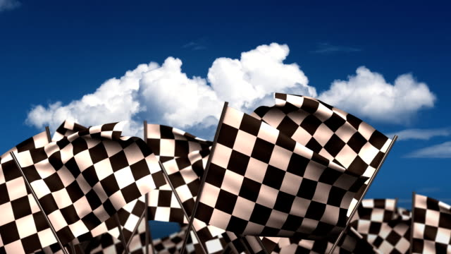 waving chequered flags - formula 1 個影片檔及 b 捲影像