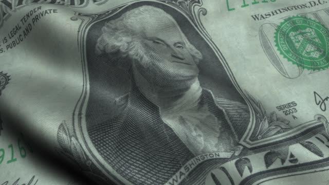 Waving Dollar Flag wih George Washington Face