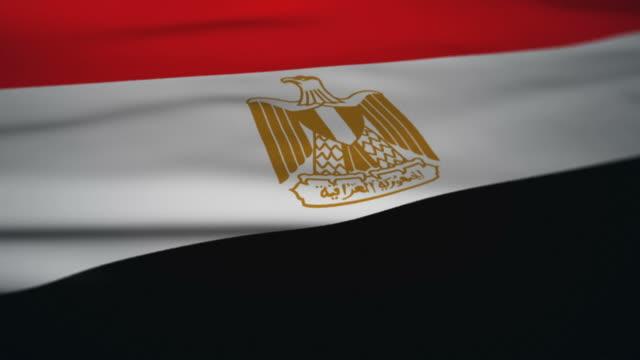 Waving Flag Animation loop: Egypt video