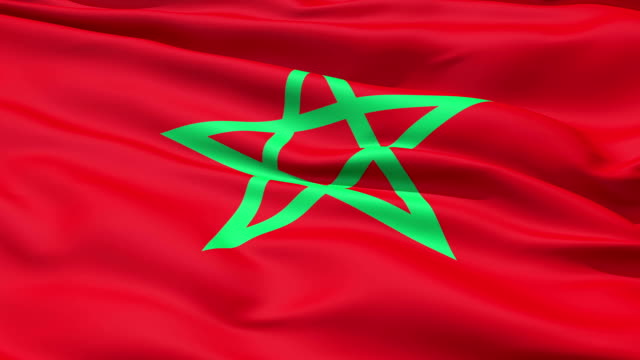 Waving Flag Of Morocco video
