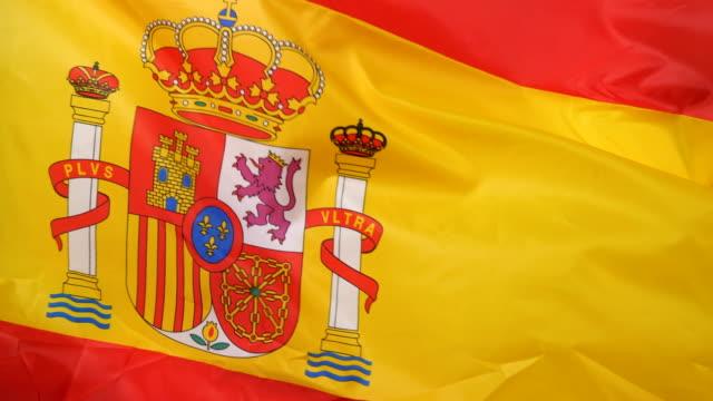 Waving flag of Spain video