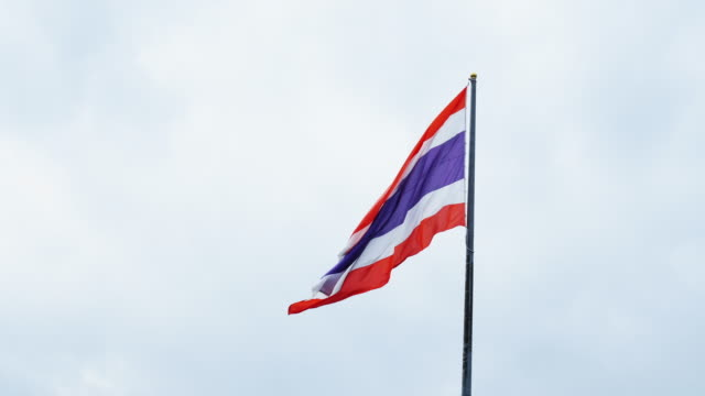 Waving flag of Thailand video