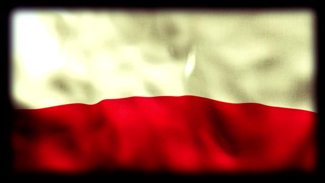 wehende flagge von polen - polnische kultur stock-videos und b-roll-filmmaterial