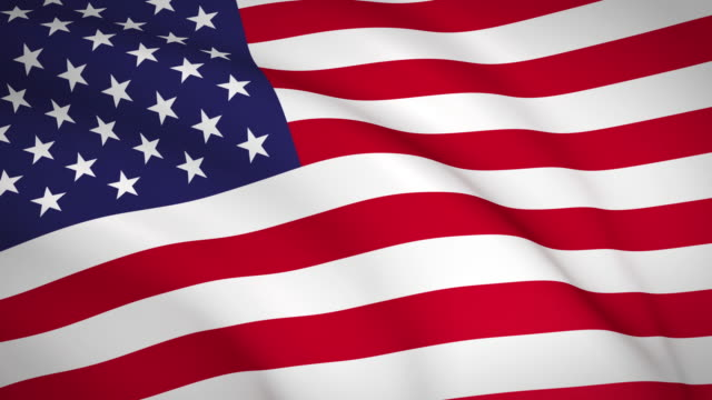 machając flagą stanów zjednoczonych ameryki. - american flag filmów i materiałów b-roll