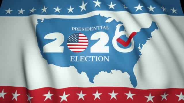 bayrak sallayarak, abd'de başkanlık seçimleri 2020, arka plan, döngü animasyon - election stok videoları ve detay görüntü çekimi