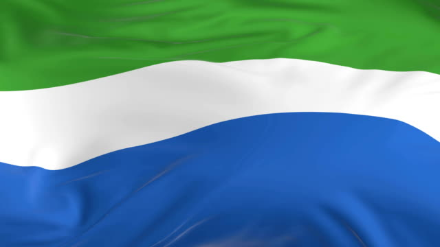 waving  looped flag as  background sierra leone - sierra leone video stock e b–roll