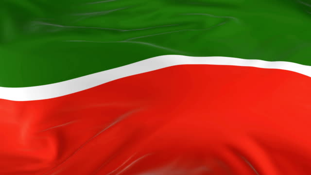waving  looped flag as  background tatarstan - insygnia filmów i materiałów b-roll