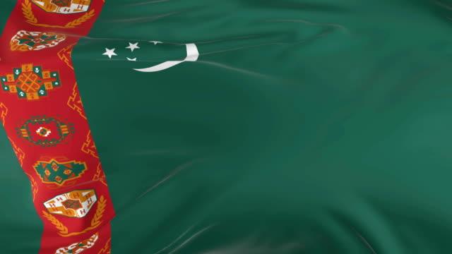 waving  looped flag as  background Turkmenistan waving in the wind looped flag as a background Turkmenistan turkmenistan stock videos & royalty-free footage