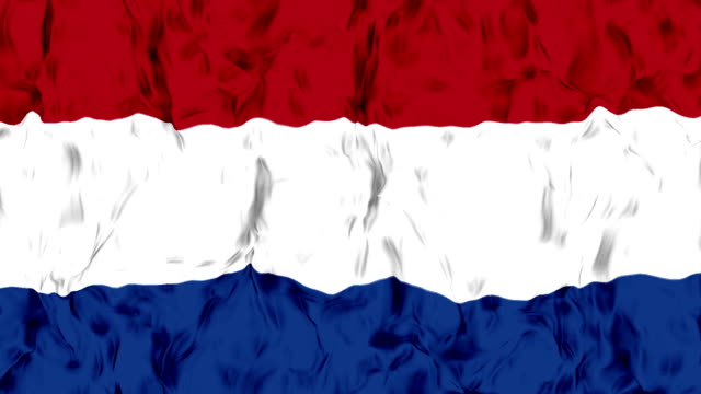 Waving Netherland Flag in Slow Motion. video