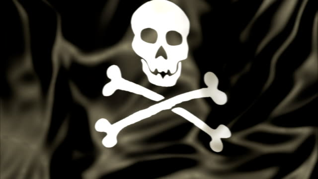 waving Pirate Flag video