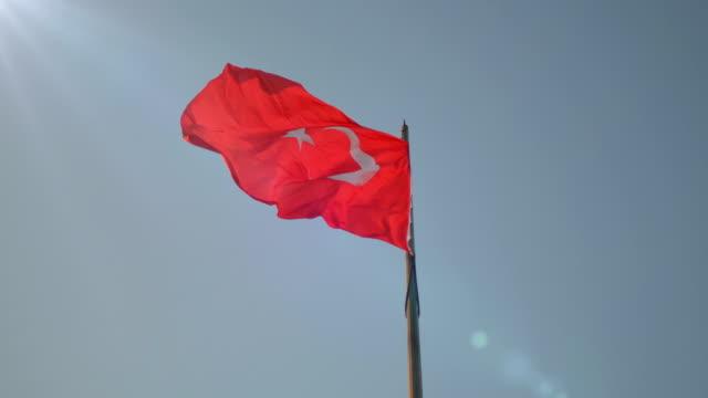 Waving Turkish Flag 4K video