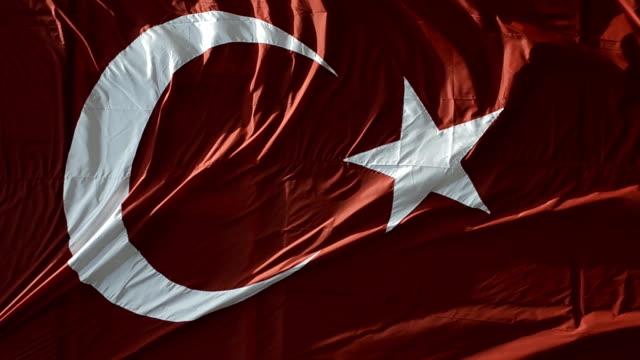 Waving Turkish flag. video