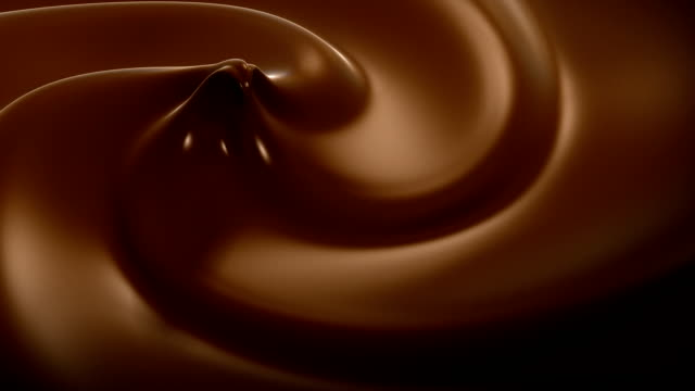 ondulato cioccolato close-up loop animazione.   hd 1080. - cioccolato video stock e b–roll