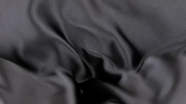 Wavy motion black fabric video