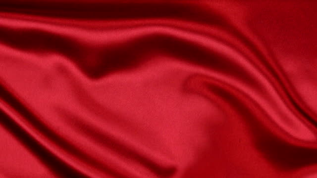 Wavy motion red fabric video