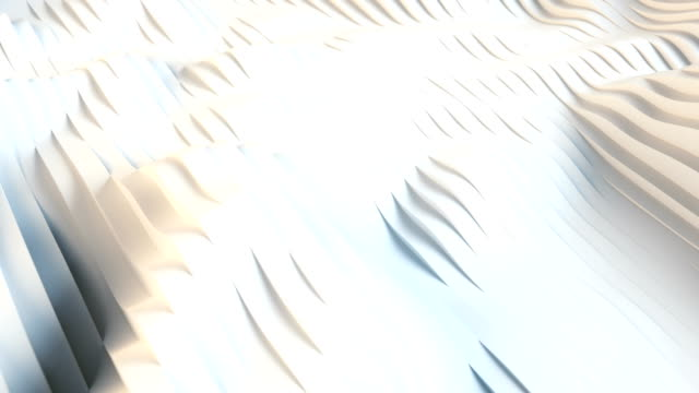 vågig förflyttning av vita geometriska linjer som liknar flödet av vätska, datorsimulering. trendig mönster animation, linje konst stil. digitalt utrymme. koncept konst. 3d-rendering. 4k, ultra hd-upplösning - topografi bildbanksvideor och videomaterial från bakom kulisserna