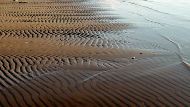 wavy sand pattern beach  Sand wavy pattern abstract  background, grooved stock videos & royalty-free footage