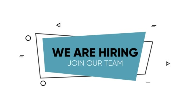 We are hiring banner concept. Animated footage