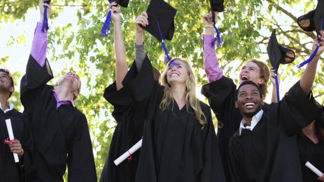 we did it! - graduation cap stock videos & royalty-free footage