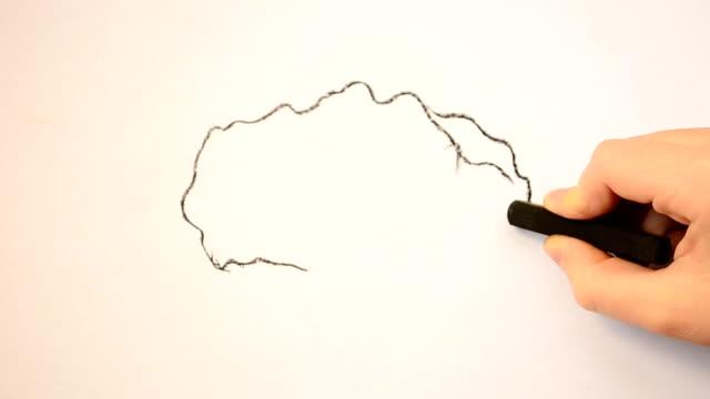 We draw a brain. video