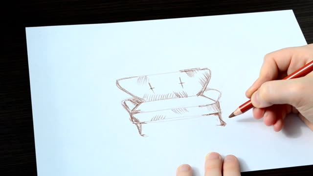 vi drar en soffa. - animal doodle bildbanksvideor och videomaterial från bakom kulisserna