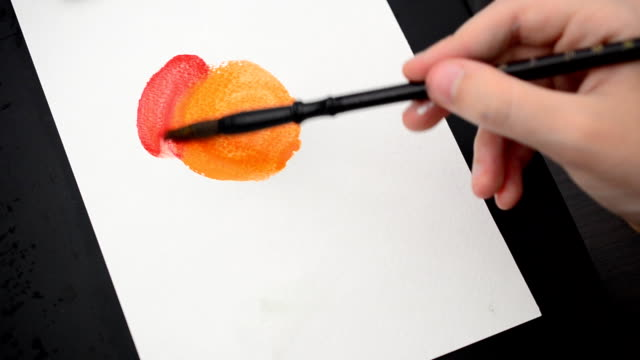 We draw the sun. video