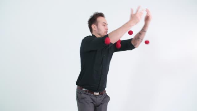 Weak juggler Weak juggler catching stock videos & royalty-free footage