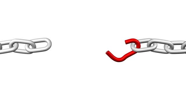 最も弱いリンク。 - 鎖の輪点の映像素材/bロール