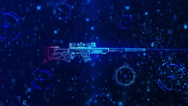 4K Weapon scanning background - Sniper (loopable)