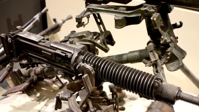 vidéos et rushes de armes capturées lors de la guerre anti-japonaise - mitrailleuse