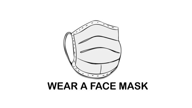 Wear a Face Mask Coronavirus Covid-19 Motion Graphic Concept Wear a Face Mask Coronavirus Covid-19 Motion Graphic Concept covid icon stock videos & royalty-free footage