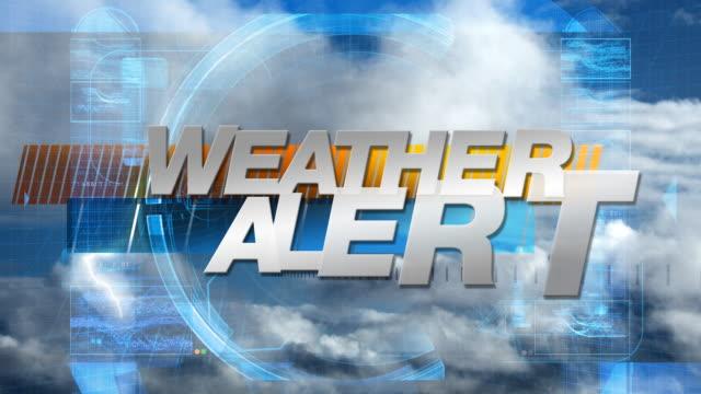 Weather Alert - Broadcast Graphics Title video
