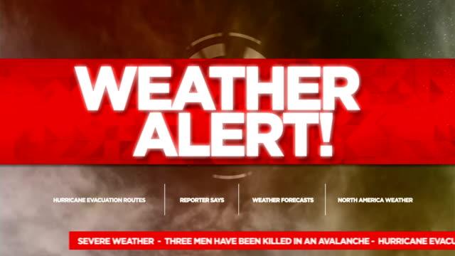 weather alert broadcast tv graphics title - niebezpieczeństwo filmów i materiałów b-roll