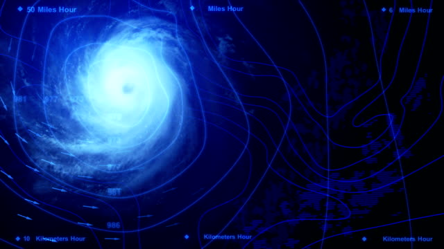 Weather and Storm Weather Map and Storm - 3D Rendering meteorology stock videos & royalty-free footage