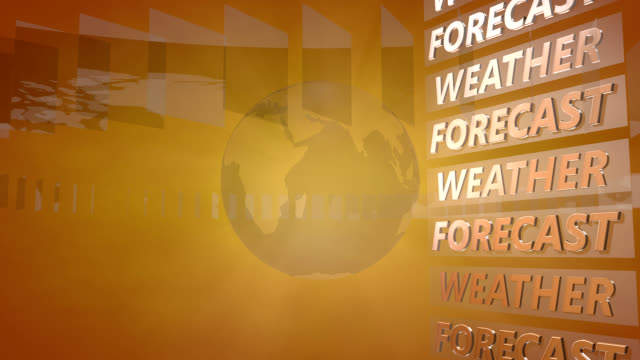 Weather Forecast Background with a rotating Globe Weather Forecast Background with a rotating Globe, useful as Background for Broadcast, TV-Shows and Information Distribution meteorology stock videos & royalty-free footage