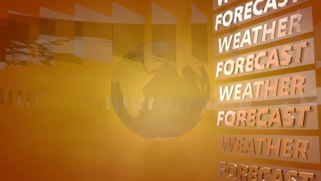 vídeos de stock, filmes e b-roll de previsão do tempo para fundo com um globo giratório - meteorologia
