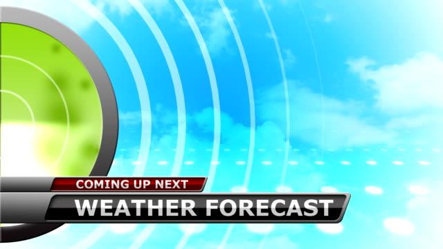Weather Forecast Promo Background Animation video