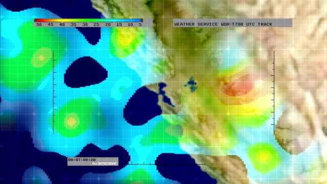 Weather Radar Digital Satellite Map (N. California) video