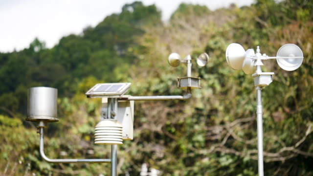 Weather station at high mountain
