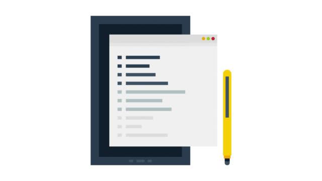 web design glitch effect icon animation mit alpha - tablet mit displayinhalt stock-videos und b-roll-filmmaterial