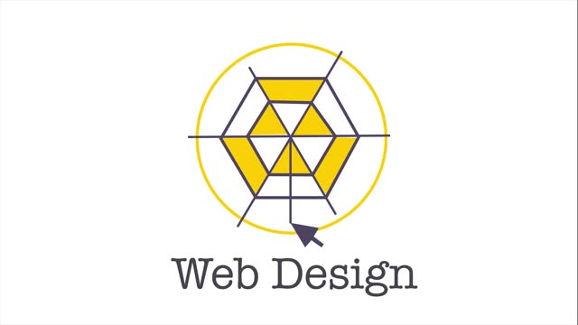 Web design illustration with icons. Animated footage