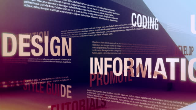 Web Design Related Terms Seamlessly looping animation showing a variety of web design related terms and concepts. web page stock videos & royalty-free footage