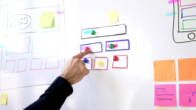 Web designers planning new website