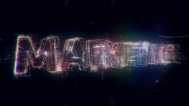 web marketing words animation - digital marketing stock videos & royalty-free footage